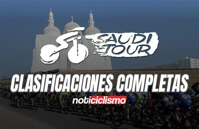 Tour de Arabia Saudita 2020 - Clasificaciones Completas