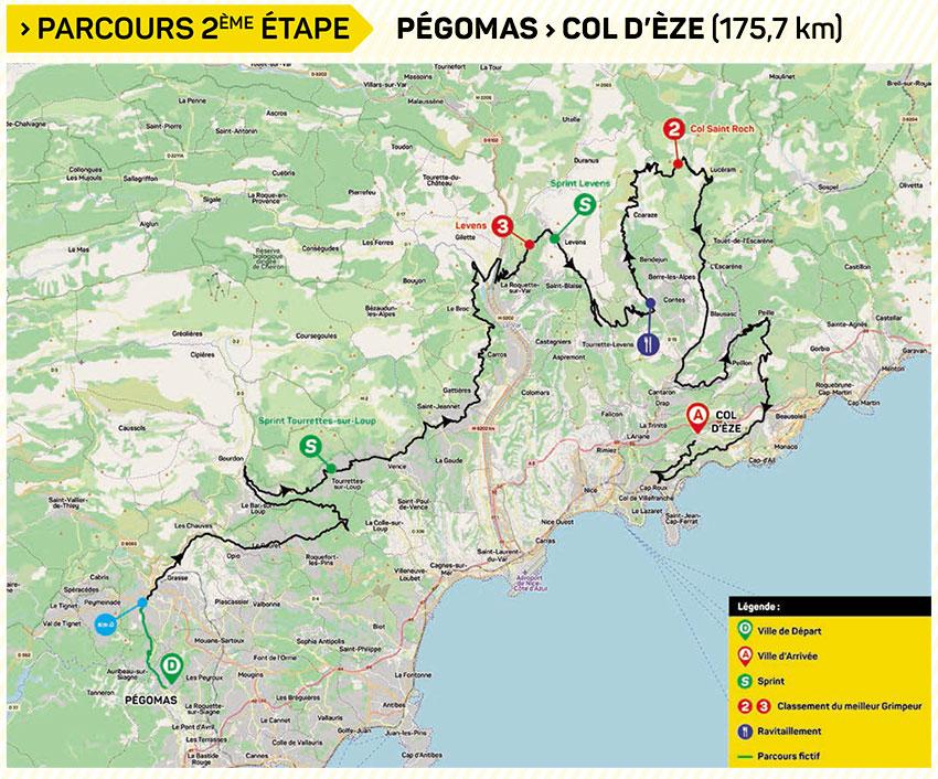 Tour des Alpes Maritimes et du Var 2020 (Etapa 2) Recorrido