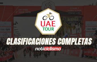 UAE Tour 2020 - Clasificaciones Completas