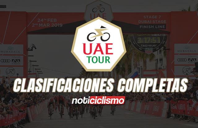 UAE Tour - Clasificaciones Completas