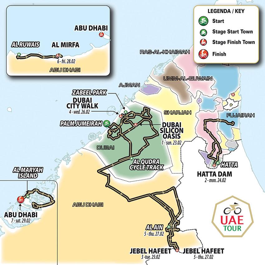 UAE Tour 2020 - Recorrido