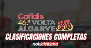 Volta ao Algarve 2020 - Clasificaciones Completas