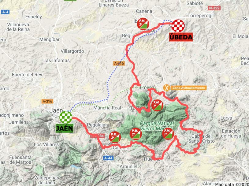 Recorrido de la Etapa 3 de la Vuelta a Andalucía 2020