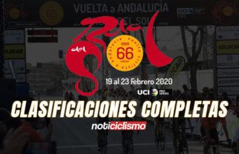 Vuelta a Andalucía 2020 - Clasificaciones Completas