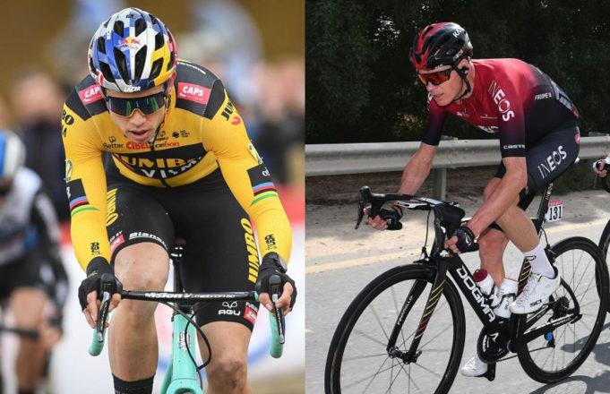 Wout Van Aert y Chris Froome