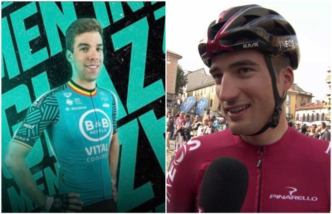 Jens Debusschere y Gianni Moscon