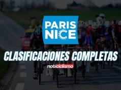 Paris-Niza 2020 - Clasificaciones Completas