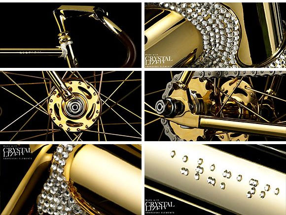 Aurumania Crystal Edition Gold Bike