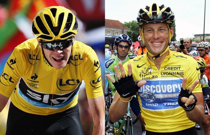 Chris Froome y Lance Armstrong