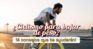 ¿Ciclismo para bajar de peso?