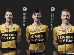 Tom Dumoulin, Primoz Roglic y Steven Kruijswijk (Jumbo-Visma)