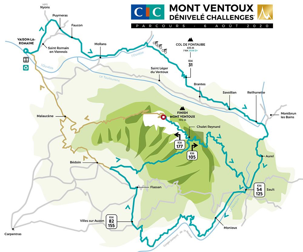 Mont Ventoux Dénivelé Challenges 2020 - Recorrido