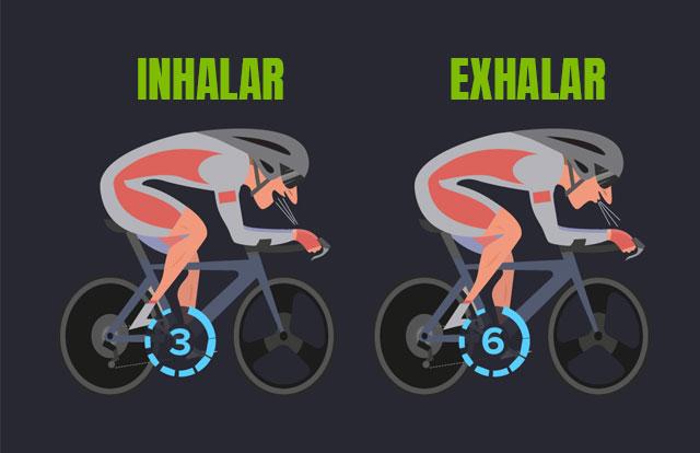Como respirar mejor sobre la bicicleta