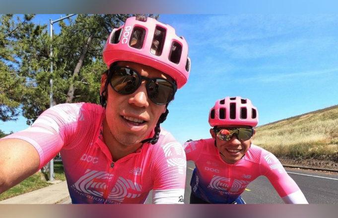Rigoberto Uran y Sergio Higuita