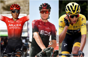 Nairo Quintana, Chris Froome y Egan Bernal