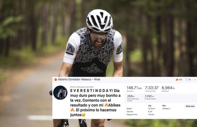 Alberto Contador - Everesting