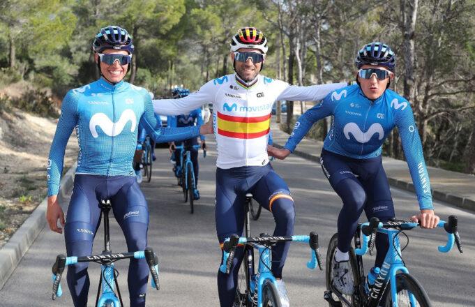 Alejandro Valverde, Enric Mas y Marc Soler