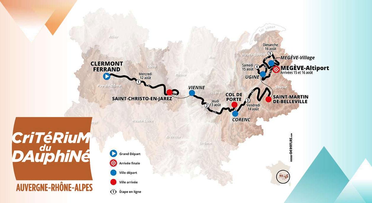 Critérium du Dauphiné 2020 - Recorrido
