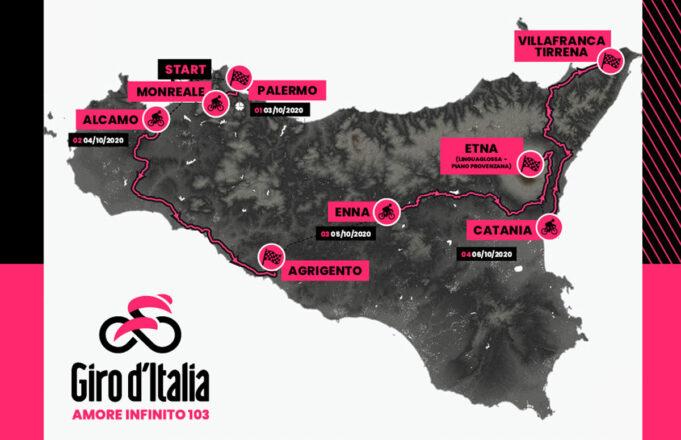 Giro de Italia 2020 - Recorrido primeras Etapas