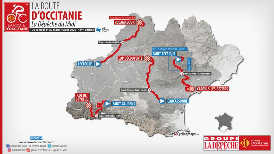 La Route d'Occitanie 2020 - Recorrido