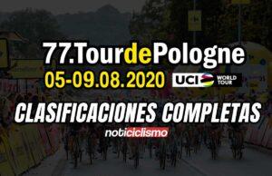 Tour de Polonia 2020 - Clasificaciones Completas