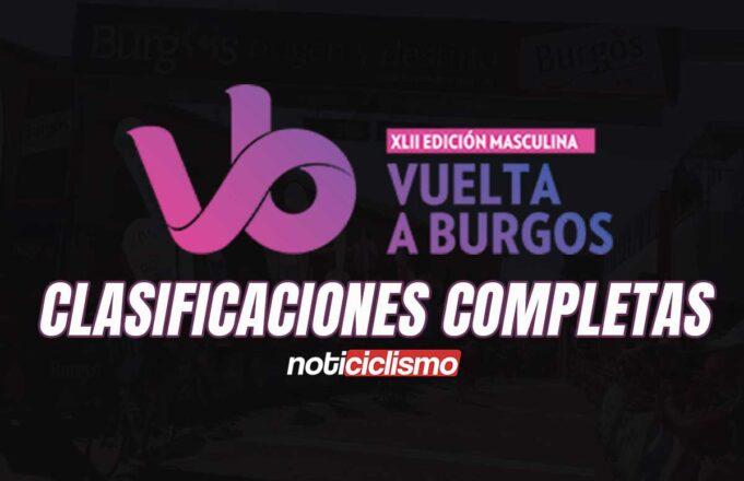 Vuelta a Burgos 2020 - Clasificaciones Completas