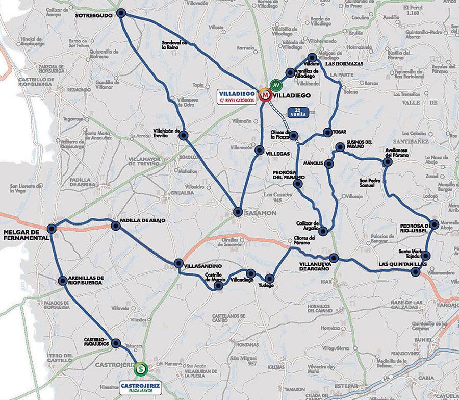 Vuelta a Burgos 2020 - Recorrido Etapa 2