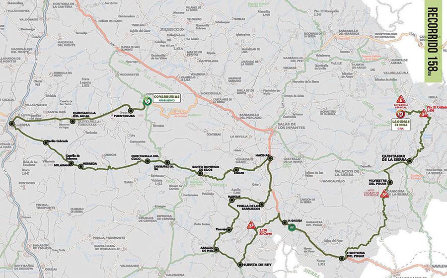Vuelta a Burgos 2020 - Previa Etapa 5 Recorrido