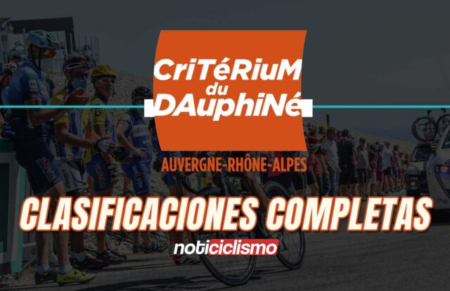 Critérium du Dauphiné 2020 - Clasificaciones Completas