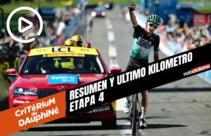 Critérium du Dauphiné 2020 (Etapa 4) Resumen y Ultimo Kilometro