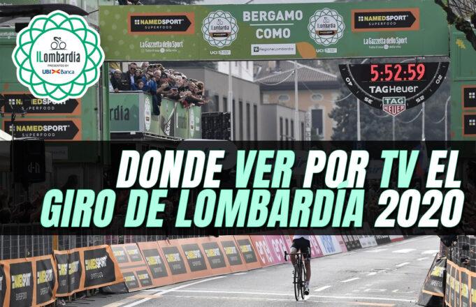 Donde ver por TV el Giro de Lombardía 2020