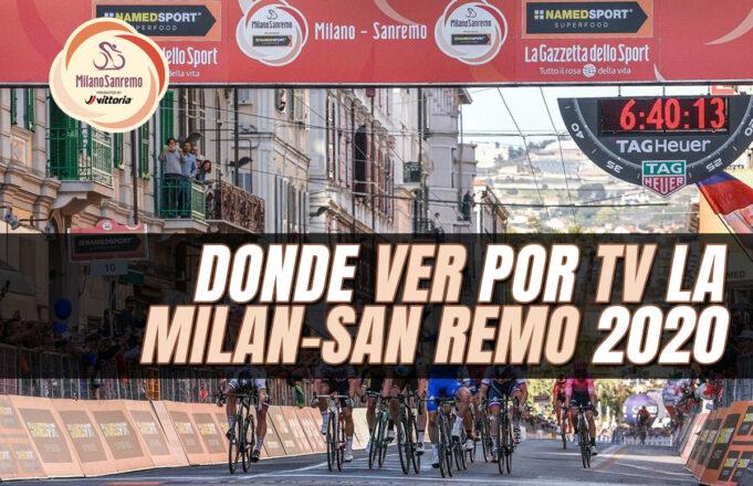 Donde ver por TV la Milán-San-Remo-2020