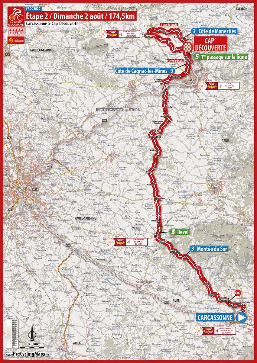 La Route d'Occitanie 2020 (Etapa 2) Recorrido