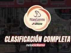 Milán-San Remo 2020: Clasificación Completa
