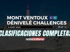 Mont Ventoux Dénivelé Challenge 2020: Clasificación Completa