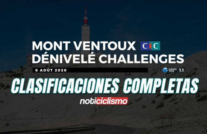 Mont Ventoux Dénivelé Challenge - Clasificación Completa