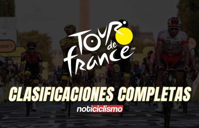 Tour de Francia 2020 - Clasificaciones Completas