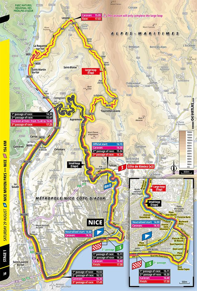 Tour de Francia 2020 - Recorrido de la Etapa 1