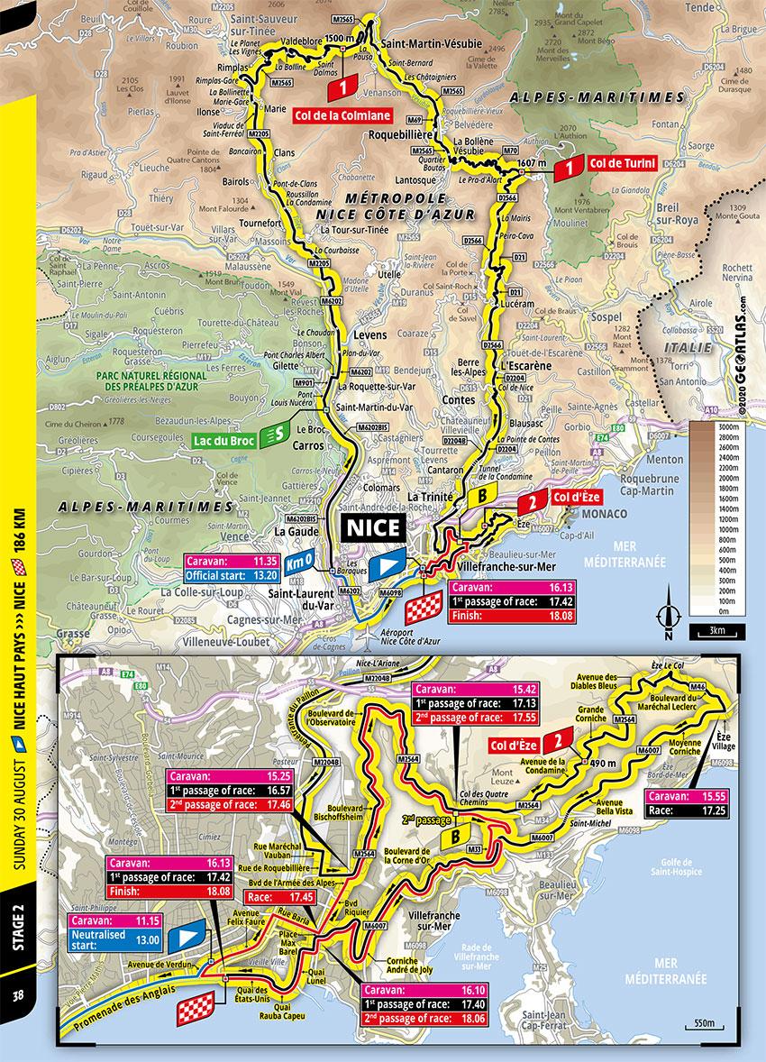 Tour de Francia 2020 - Recorrido de la Etapa 2