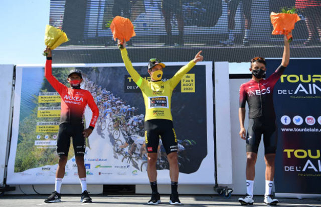 Pódium final del Tour de l'Ain 2020