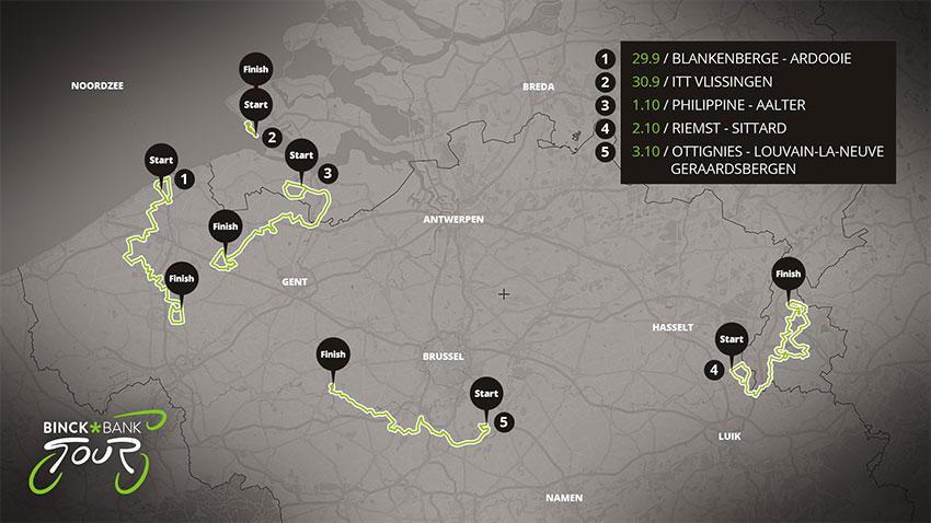 BinckBank Tour 2020 - Recorrido