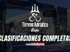 Tirreno Adriático 2020 – Clasificaciones Completas