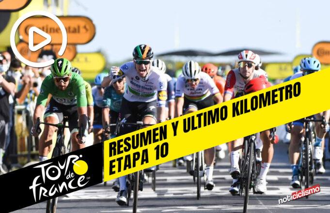 Tour de Francia 2020 (Etapa 10) Resumen y Ultimo kilometro