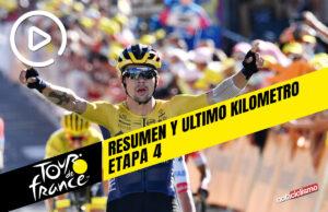 Tour de Francia 2020 (Etapa 4) Resumen y Ultimo Kilometro
