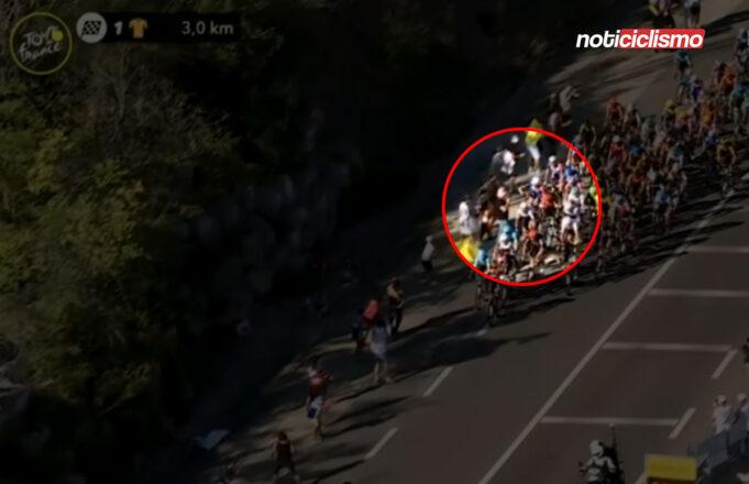 Ciclista agrede a un espectador en la Etapa 5 del Tour de Francia
