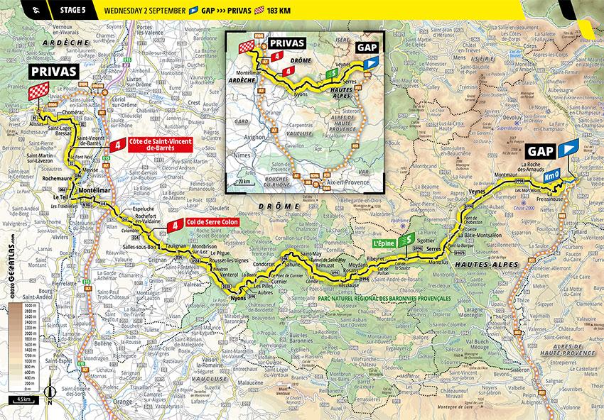 Tour de Francia 2020 - Recorrido de la Etapa 5