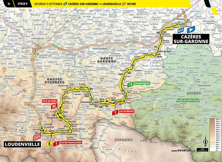 Tour de Francia 2020 - Recorrido de la Etapa 8