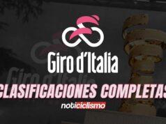 Giro de Italia - Clasificaciones Completas