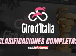 Giro de Italia 2020 - Clasificaciones Completas