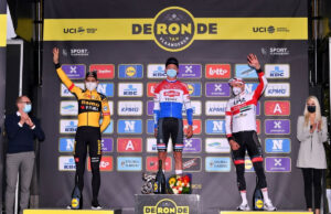 Pódium del Tour de Flandes 2020